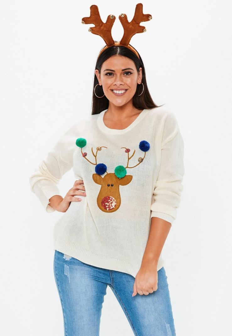 plus-size-cream-reindeer-sweater